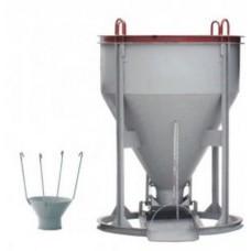 Бадья для бетона ZITREK БН-1,5 (воронка/лоток)